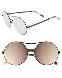 Web - 55mm Round Metal Shield Sunglasses - - Lyst