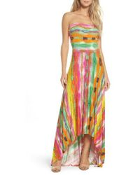 Felicity & Coco | Strapless Neon Print Maxi Dress | Lyst