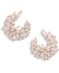 Serefina - Floral Cubic Zirconia Earrings - Lyst