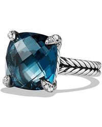 David Yurman - Chatelaine? Ring With Gemstone And Diamonds - Lyst