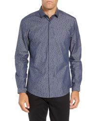 Vince Camuto - Slim Fit Button Down Collar Sport Shirt - Lyst