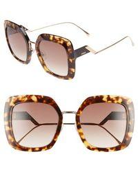 fb2a6f65db9 Lyst - Fendi Ff 0047 Edj Havana Fashion Plastic Sunglasses in Brown