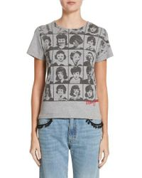 Marc Jacobs | Yearbook Print Embroidered Tee | Lyst