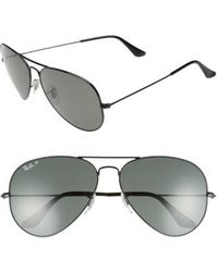 Ray-Ban - Original 62mm Polarized Aviator Sunglasses - - Lyst