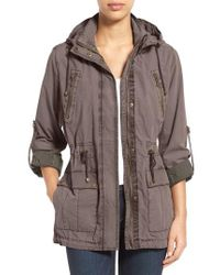 Levi's - Levi's Parachute Hooded Cotton Utility Jacket - Lyst