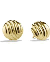 David Yurman 18k Yellow Gold Cable Stud Earrings