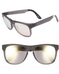 cd3266fa10 Lyst - Nike  tailwind 12  70mm Sunglasses - Metallic Pewter in ...