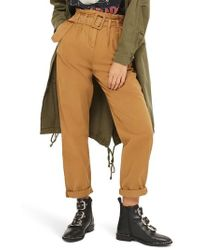 TOPSHOP | Belted Chino Pants | Lyst