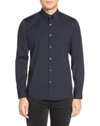 Theory - 'sylvain' Trim Fit Long Sleeve Sport Shirt - Lyst