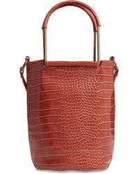 T-Shirt & Jeans - Croc Embossed Faux Leather Tote - Lyst
