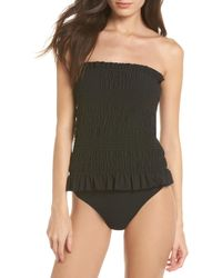Tory Burch - Costa Smocked One-piece Swimsuit - Lyst
