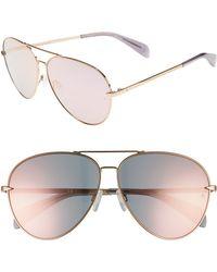 Rag & Bone - 63mm Oversize Aviator Sunglasses - - Lyst