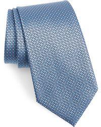Ermenegildo Zegna - Geometric Silk Tie - Lyst