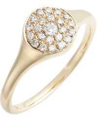 Loren Stewart - Diamond Signet Ring - Lyst