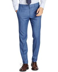 Bonobos - Jetsetter Flat Front Solid Stretch Wool Trousers - Lyst
