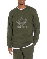 adidas Originals - Adidas Outline Trefoil Crewneck Sweatshirt - Lyst