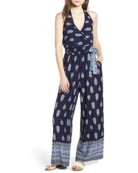 Band Of Gypsies - Bandana Print Jumpsuit - Lyst