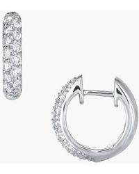 Kwiat - Diamond Pave Hoop Earrings - Lyst