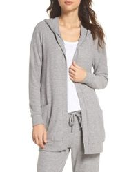 Chaser | Love Lace-up Hooded Cardigan | Lyst