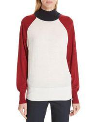 BOSS - Fanarea Tricolor Wool Pullover - Lyst
