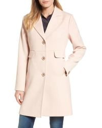 Kenneth Cole - Kenneth Cole A-line Ponte Coat - Lyst