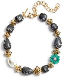 Lele Sadoughi - Keepsake Stone Collar Necklace - Lyst