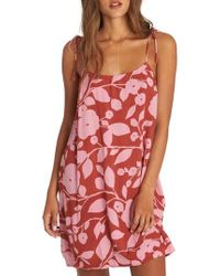 Billabong - Night Out Print Camisole Dress - Lyst