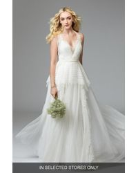 WILLOWBY - Jewel Lace & Net A-line Gown - Lyst