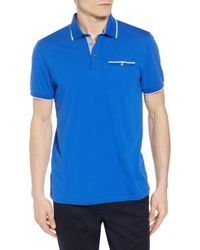 a5500714d Lyst - Ted Baker Derry Modern Slim Fit Polo in Red for Men