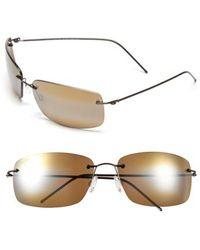 Maui Jim - 'frigate - Polarizedplus2' 65mm Polarized Sunglasses - Gloss Dark Brown/ Hcl Bronze - Lyst