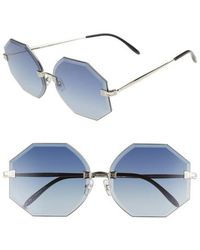 Wildfox - Gem 64mm OverSilver/ Grey-blue Gradient - Lyst