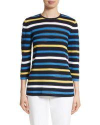 St. John | Ombre Stripe Sweater | Lyst