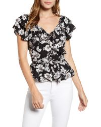 d72410e3616d Billabong Summer Nights Woven Top in Black - Lyst