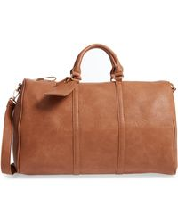 Sole Society - Cassidy Faux Leather Duffle Bag - Lyst