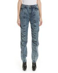 Y. Project - Stonewash Ruffle Jeans - Lyst