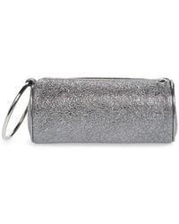 Duffel Metallic Textured-leather Clutch - Silver Kara uN8c8WIcrr