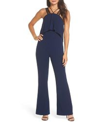 Harlyn - Lace Strap Popover Bodice Jumpsuit - Lyst