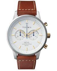 Triwa - Snow Nevil Chronograph Leather Strap Watch - Lyst