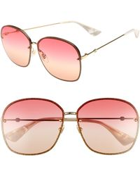 Gucci - 63mm OverGold/ Red/ Yellow/ Nude - Lyst