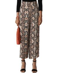 Whistles - Snake Print Trousers - Lyst