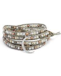 Nakamol - Crystal Charm Wrap Bracelet - Lyst
