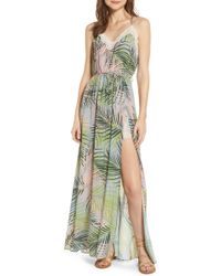 84c9a558cf03 À LA PLAGE Beaded Embroidered Keyhole Halter Dress in Black - Lyst