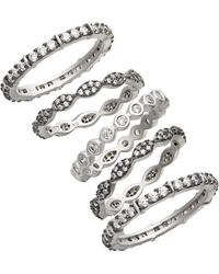 Freida Rothman - Classic Mixed 5-stack Ring - Lyst