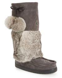 Manitobah Mukluks - Snowy Owl Waterproof Genuine Fur Boot - Lyst
