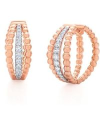 Kwiat - Beaded Multirow Diamond Hoop Earrings - Lyst