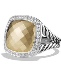 David Yurman - 'albion' Ring With 18k Gold Dome And Diamonds - Lyst