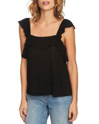 1.STATE - Square Neck Ruffle Top - Lyst