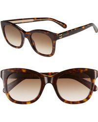 678c36a0e1f66 Lyst - Rag   Bone Core 50mm Polarized Cat Eye Sunglasses - in Black