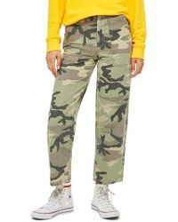 TOPSHOP - Sonny Camouflage Utility Trousers - Lyst
