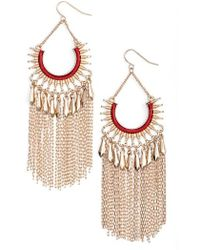 Adia Kibur - Chain Fringe Earrings - Lyst